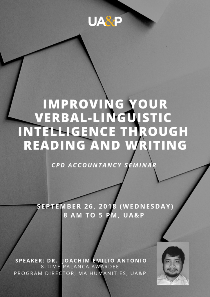 UA&P to conduct seminar on improving verbal-linguistic intelligence