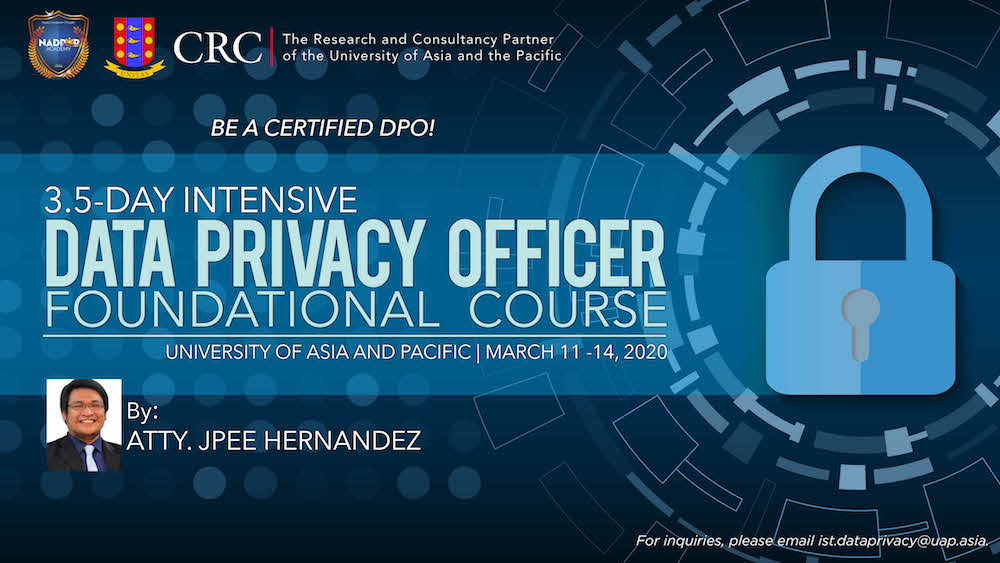 CRC offers Data Protection Officers Foundational Course 1
