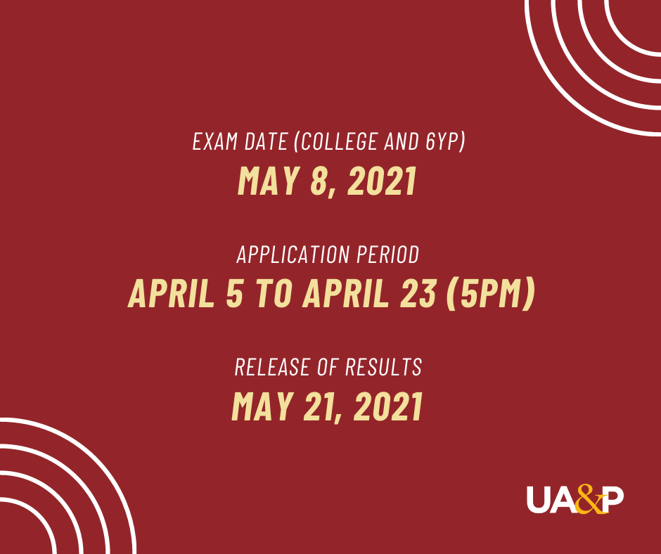 UA&P special exam in May